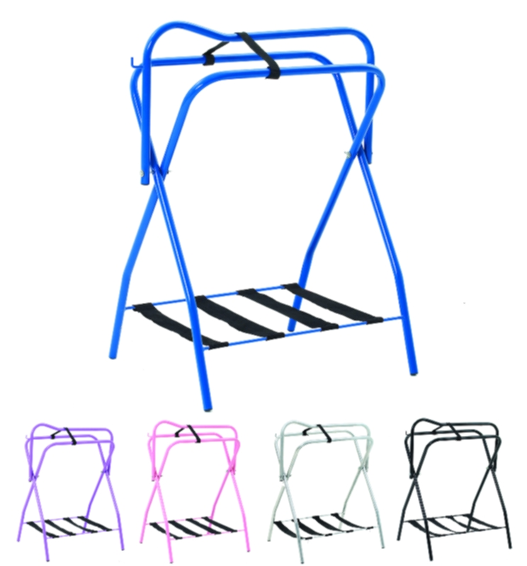 Folding Saddle Rack with Web Rack