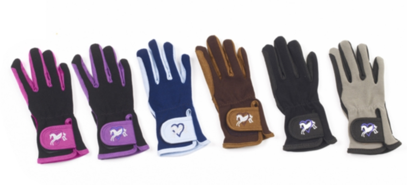 Ovation Child's Heart & Horse Gloves