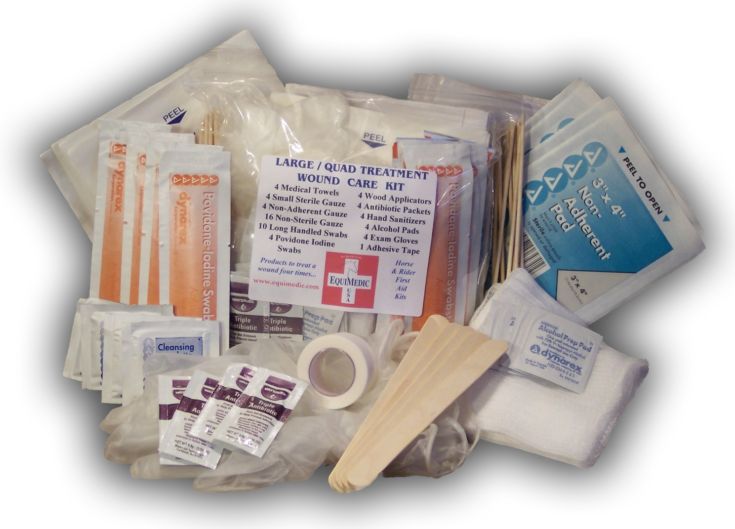 EquiMedic Mini First Aid Kit Quad Treatment