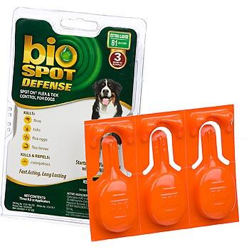 Bio Spot Defense Spot On Flea & Tick Control for Dogs