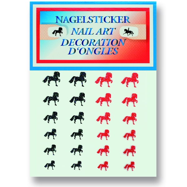 Trotting Horse Nail Art Stickers - 24/Sheet