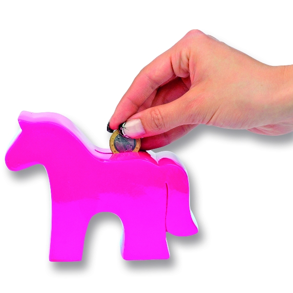 Durable Plastic Horse Coin Bank