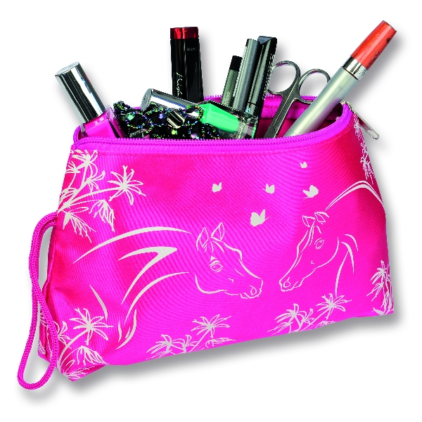Satin Cosmetic Bag - Horse