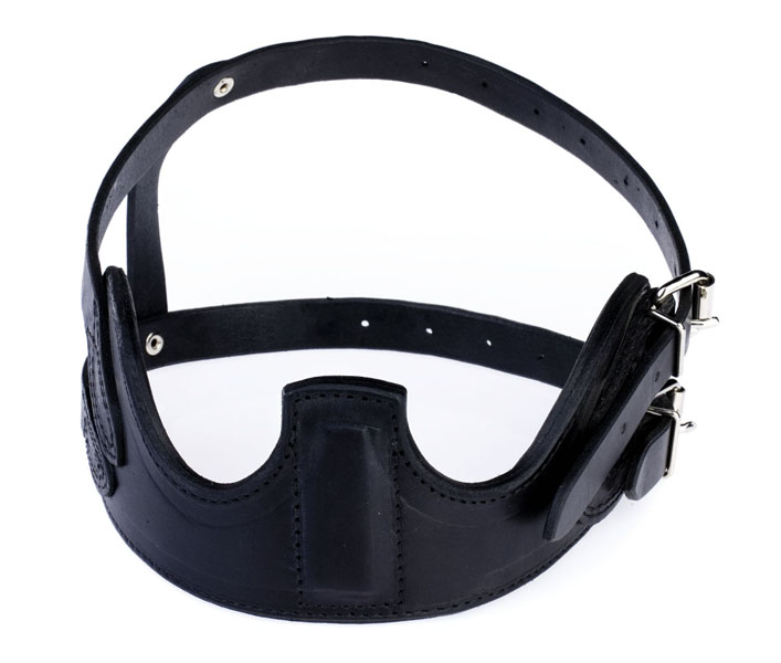 HorZe Crib Biter Collar Leather