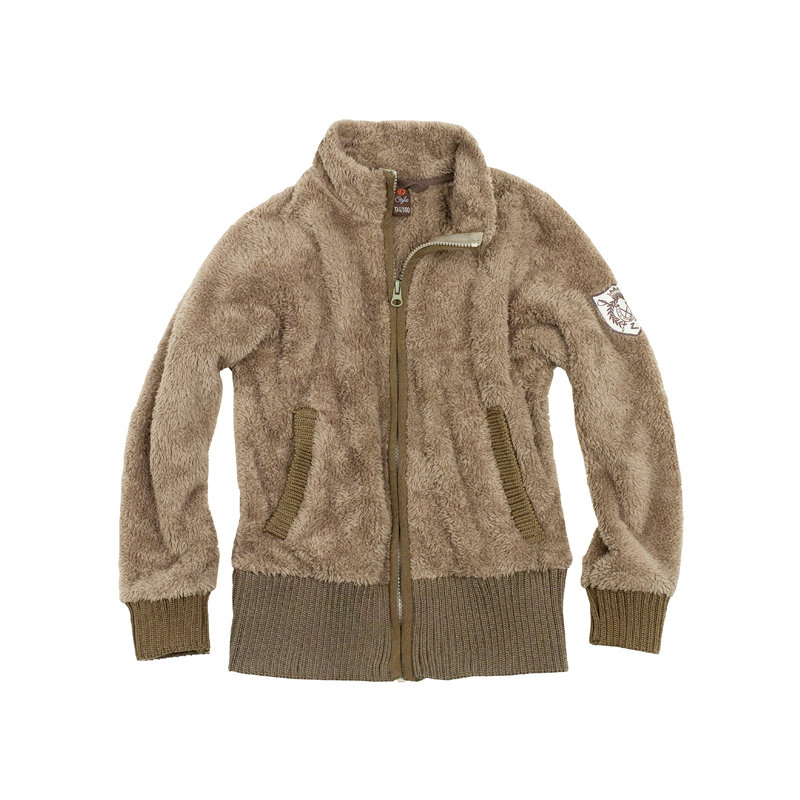 HorZe Furry Jacket With Knit Rib Jr