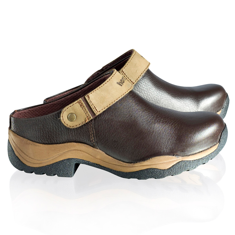HorZe Leather Clogs