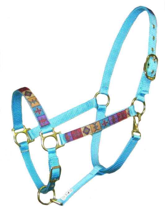 Ronmar Nylon Halter with Snap - Crosses