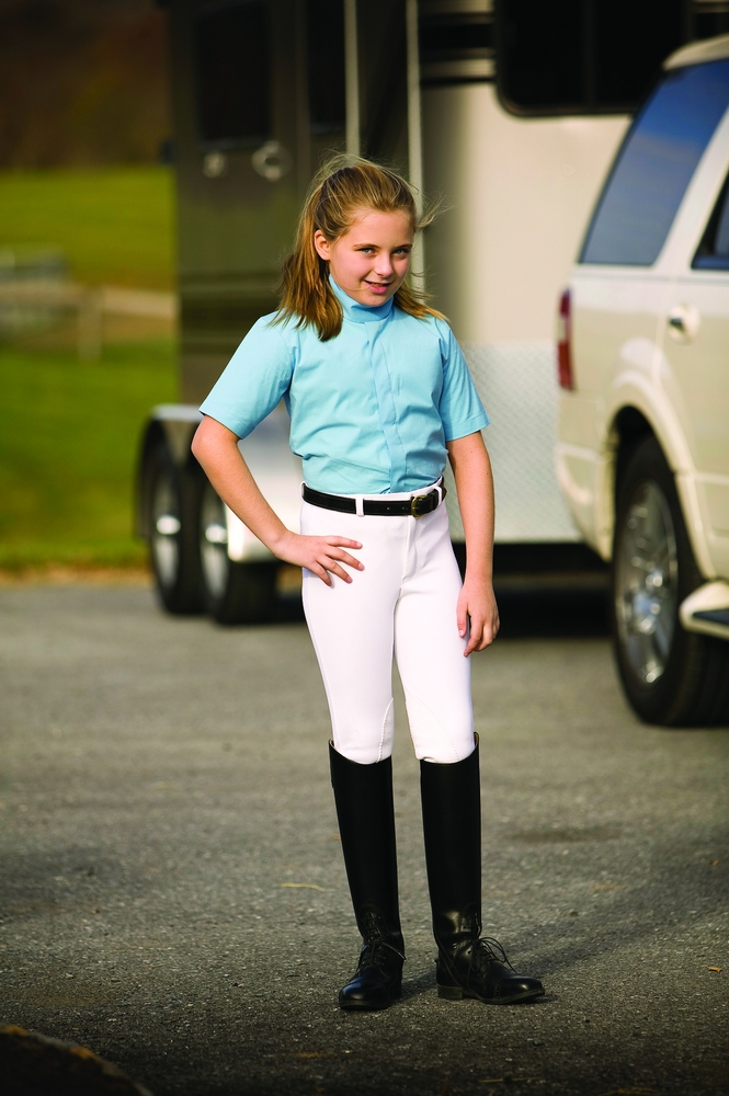 TuffRider Elegance Short Sleeve Show Shirt Kids