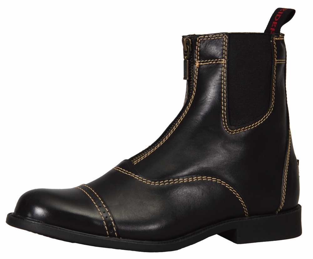 TuffRider Ladies' Natasha Front Zip Paddock Boots With Metal Zipper