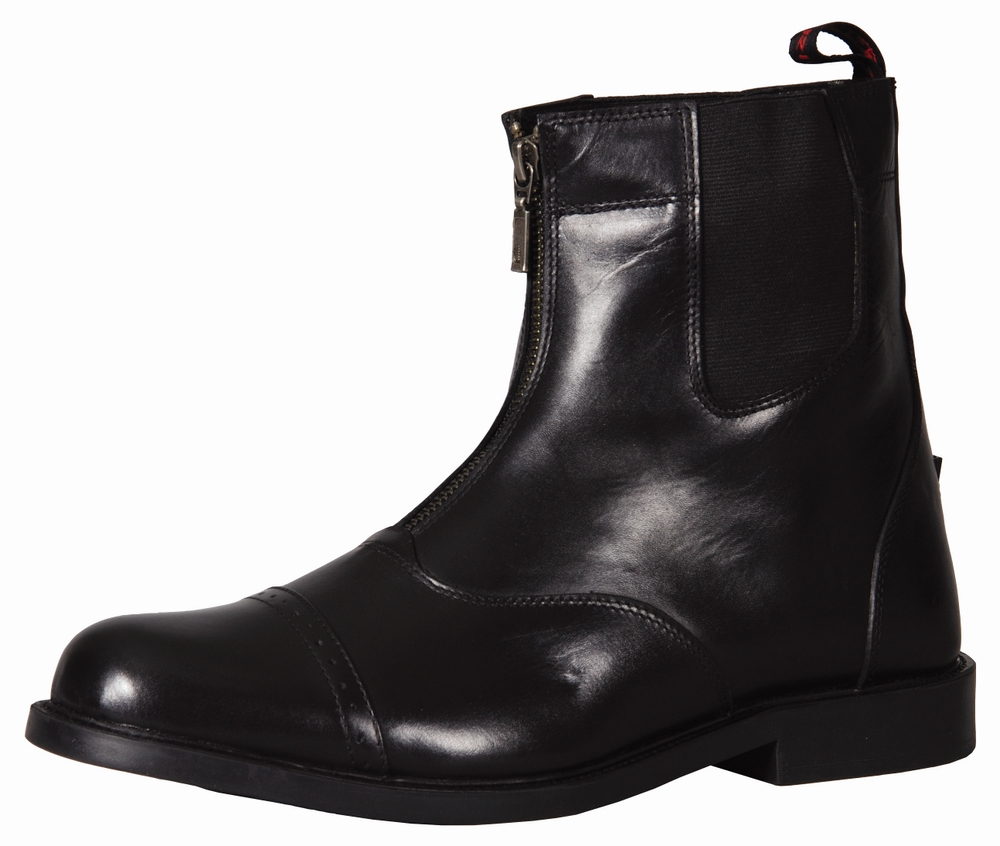 TuffRider Men's Baroque Front Zip Paddock Boots With Metal Zipper