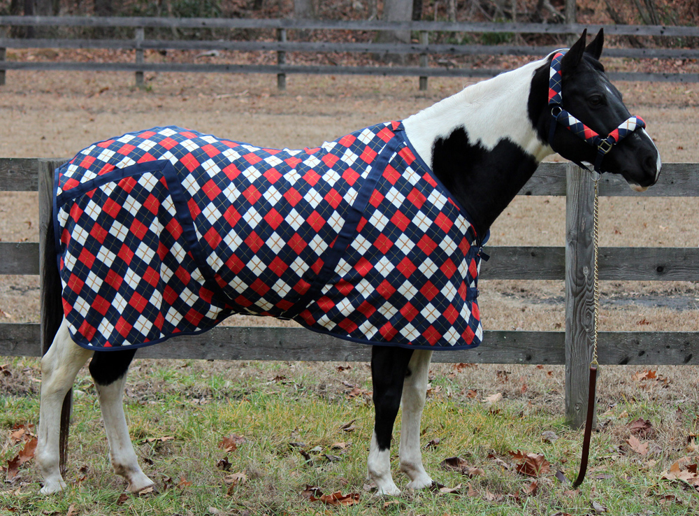 TuffRider Argyle Fleece Printed Dress Sheet