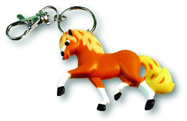 3D Trotting Pony, Soft PVC KeyChain