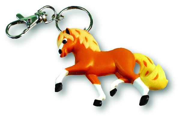 3D Trotting Pony, Soft PVC KeyChain
