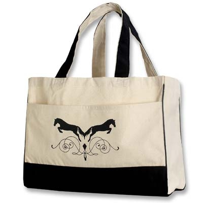 Jumper Canvas Tote with Front Pocket