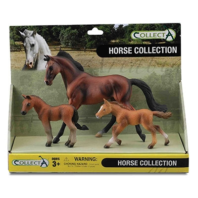 Kelley Bay Mare, Bay Foal & Chestnut Foal Box Set