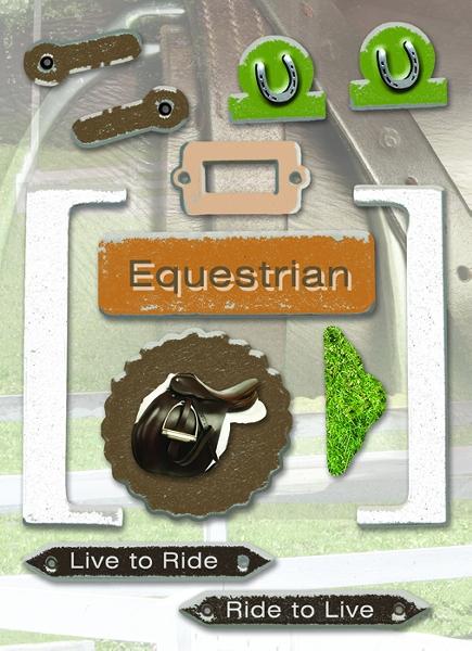 Horse - Diecut Chipboard