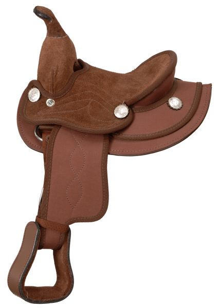 King Series Suede Seat Synthetic Mini Saddle