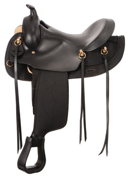 Synthetic Gaited Horse Round Skirt Trail Saddle