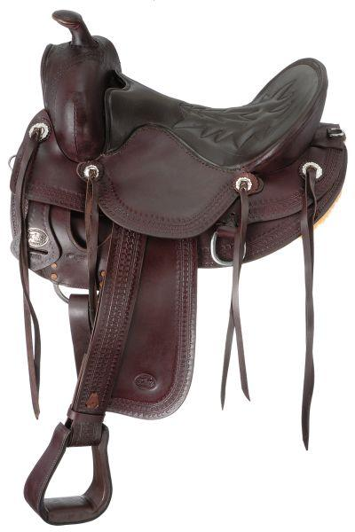 King Series Round Skirt Old Time Trail Rider Saddle