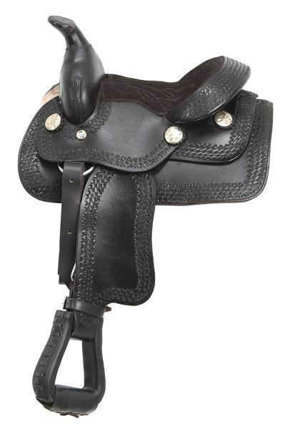 King Series Miniature Western Saddle-partial tooling