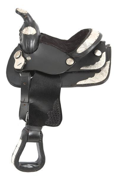 King Series Miniature Western Show Saddle with Silver