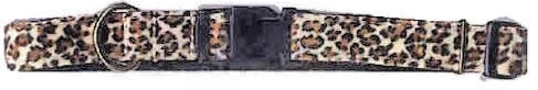 OPEN BOX ITEM: Ronmar Adjustable Nylon Dog Collar & Leash - Leopard