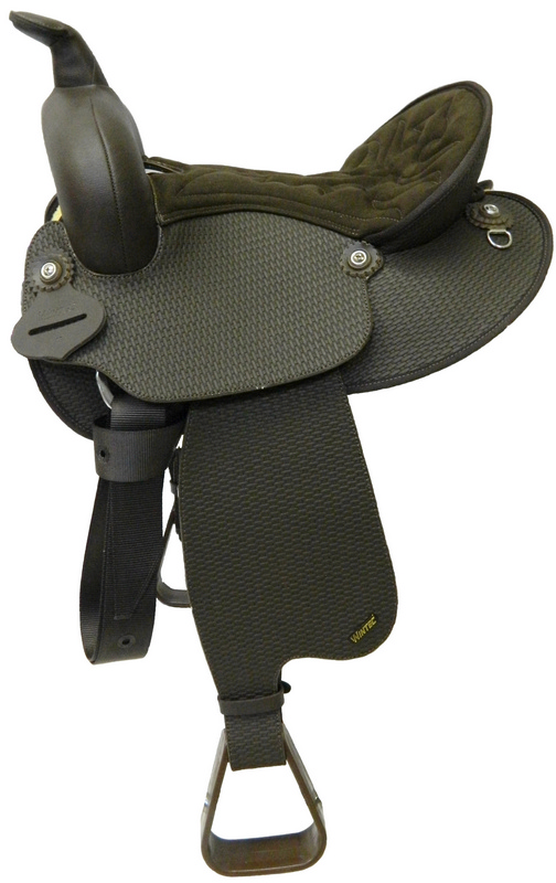 Wintec Youth Synthetic Leather Basketweave Western Saddle