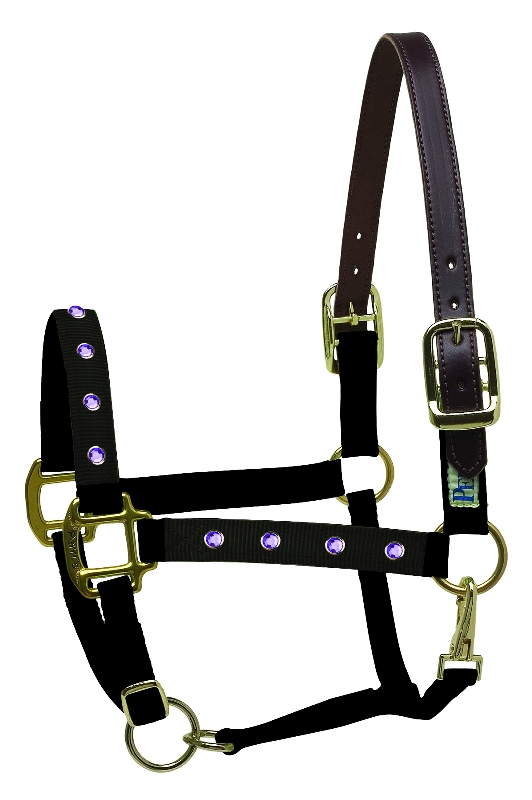 Perri's Nylon Safety Bling Halter