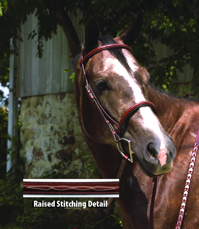 Perri's Professional Fancy Stitched Padded Hunter Bridle