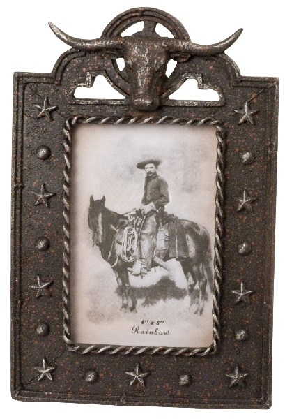 Western Steer's Head Picture Frame
