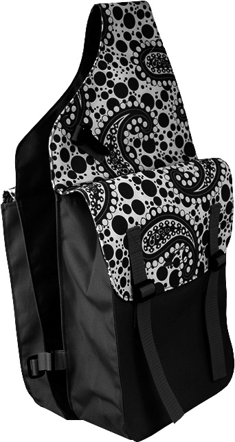 Lami-Cell Paisley Medium Saddle Bag