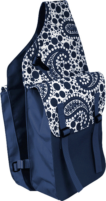Lami-Cell Paisley Medium Saddle Bag