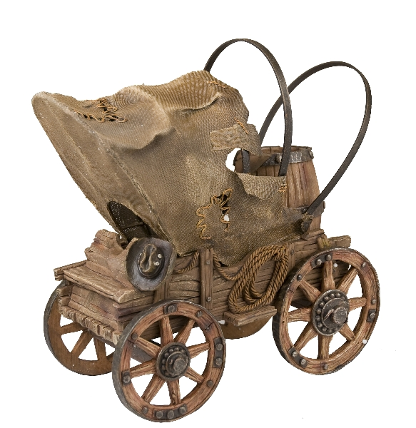 Western Chuck Wagon Wine Bottle Holder