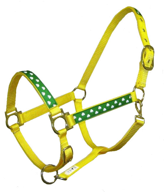 Ronmar Nylon Halter with Snap - Adjustable Chin - Shamrocks