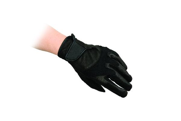 Leather/Stretch Nylon Gloves