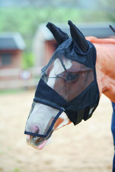 Full Face Fly Mask, Detachable Nose