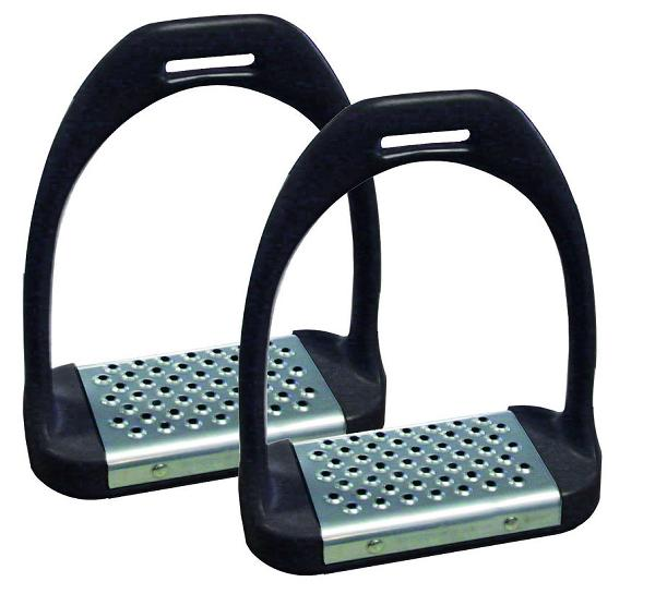 Stirrup Irons With Metal Tred