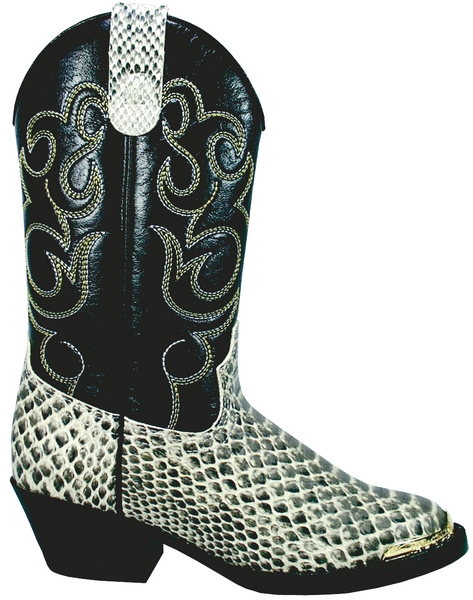 Smoky Mountain Youth Laramie Python Print Western Boot