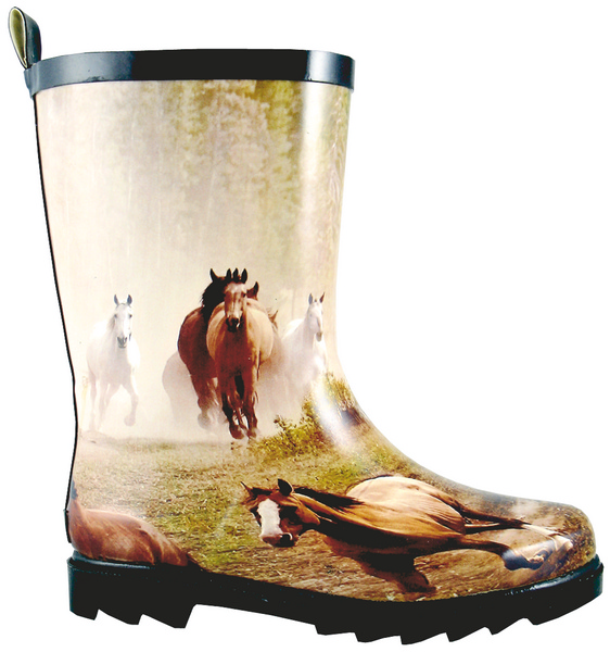 Smoky Mountain Child's Running Horse Rubber Boot