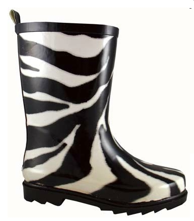 Smoky Mountain Child's Zebra Rubber Boot
