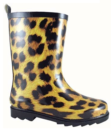 Smoky Mountain Child's Leopard Rubber Boot