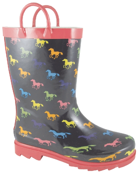 Smoky Mountain Child's Ponies Rubber Boot