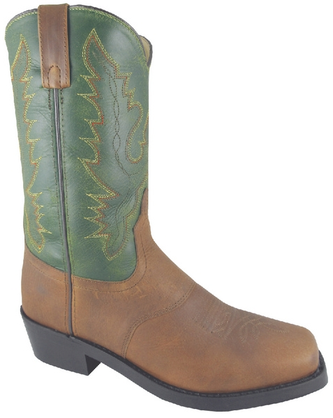 Smoky Mountain Men's Bronco Leather Western Work Boot