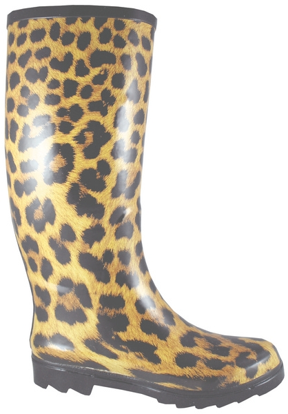 Smoky Mountain Women's Leopard Rubber Boot