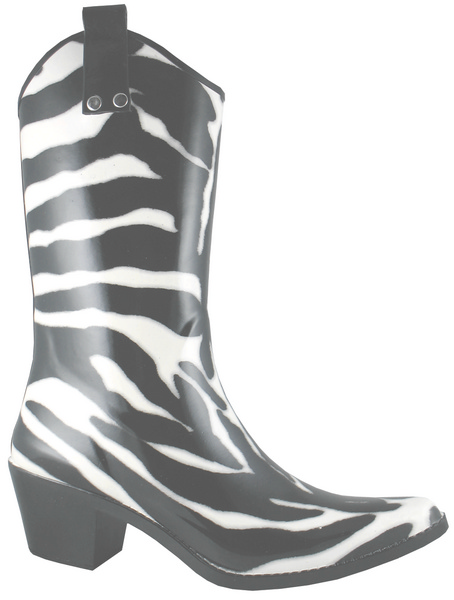 Smoky Mountain Women's Zebra Rubber Boot - High Heel
