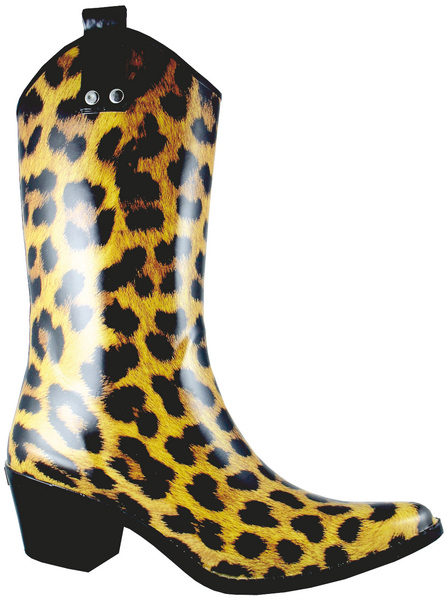 Smoky Mountain Women's Leopard Rubber Boot - High Heel