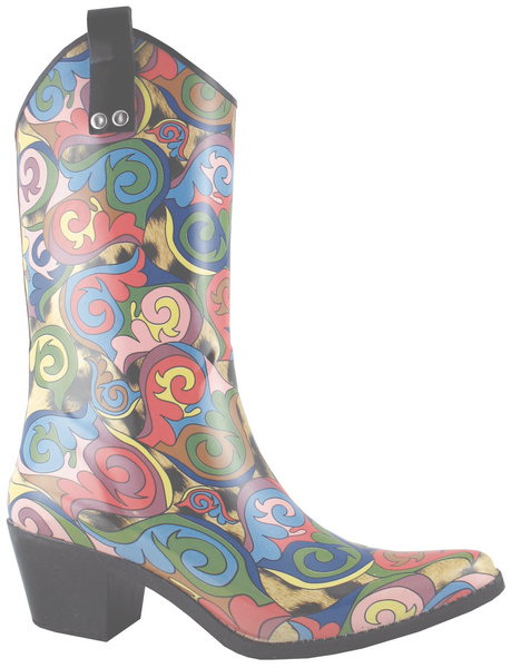 Smoky Mountain Women's Mosaic Rubber Boot - High Heel