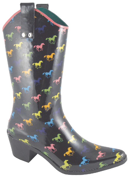 Smoky Mountain Women's Ponies Rubber Boot - High Heel