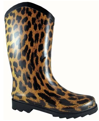 Smoky Mountain Women's Leopard Rubber Boot - Wide Calf