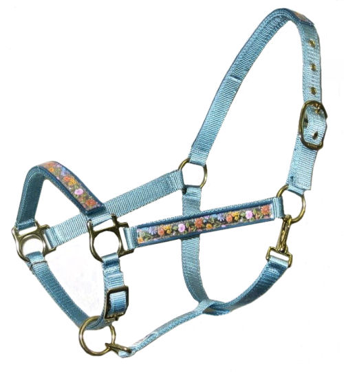 Ronmar Nylon Halter with Snap - Adjustable Chin - Springtime